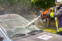 Breaking the windscreen Royalty Free Stock Photography