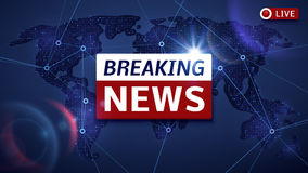 Free Breaking World News Live Vector Tv Background And Internet Video Stream Concept Stock Image - 96679411