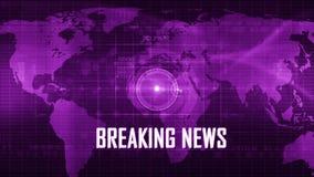 BreakingNews generic background stock video footage