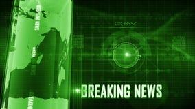 BreakingNews generic background stock footage