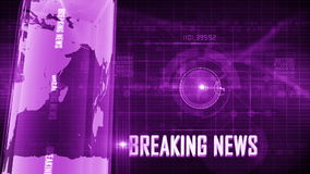 BreakingNews generic background stock video