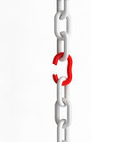 Breakout Chains. Breakout chain, 3D render, Image include best quality hand-drawn clipping paths for remove background Royalty Free Stock Photos