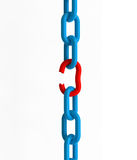 Breakout Chains. Breakout chain, 3D render, Image include best quality hand-drawn clipping paths for remove background Stock Images