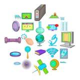 Breakthrough icons set, cartoon style. Breakthrough icons set. Cartoon set of 25 breakthrough vector icons for web isolated on white background Stock Image