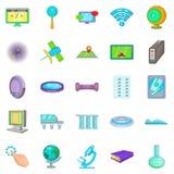 Breakthrough icons set, cartoon style. Breakthrough icons set. Cartoon set of 25 breakthrough vector icons for web  on white background Royalty Free Stock Photos