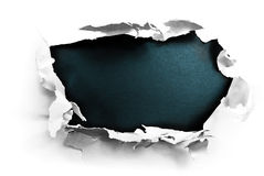 Breakthrough paper hole Royalty Free Stock Image