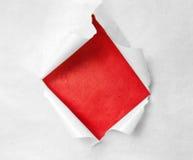 Breakthrough paper hole Stock Image