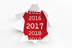 Breakthrough paper 2017. Shoot of the New Year Symbols - 2017 - Blueprint Stock Photos