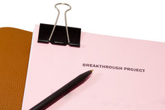 Breakthrough project proposal. Stock Image