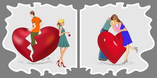 Breakup - Reconciliation Royalty Free Stock Photo