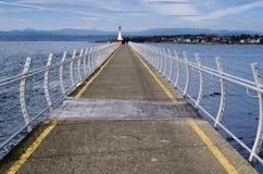 Breakwall d'Ogden Point, Victoria, AVANT JÉSUS CHRIST Canada images libres de droits