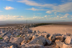 Breakwater. In Morecambe in Great Britain Royalty Free Stock Photos