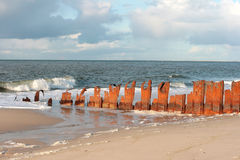 Breakwater royalty free stock image