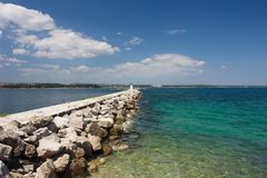 Breakwater Royalty Free Stock Photos
