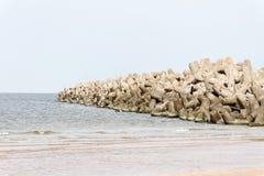 Breakwater. Royalty Free Stock Images