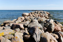 Breakwater. Royalty Free Stock Photography