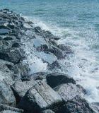 Coastal Breakwater UK Stock Photo
