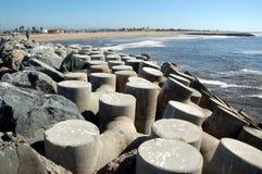 Breakwater. At the beach stock image