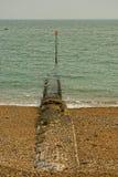 Breakwater. The breakwater in eastbourne UK Royalty Free Stock Photography