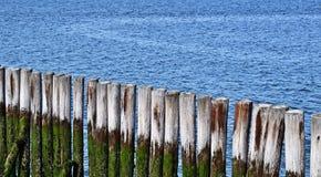 Breakwater. At the Atlantic shore close up royalty free stock photos