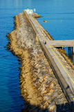 Breakwater. At baiona harbor, Galicia. Spain Royalty Free Stock Images