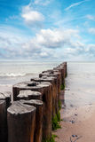 Breakwater on the Baltic Stock Photos