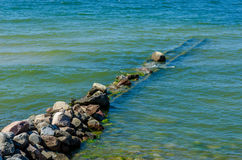 The Breakwater on a Baltic Sea. Royalty Free Stock Images