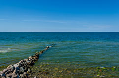 Breakwater on a Baltic Sea Stock Images