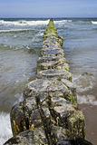 Breakwater Baltic Sea Royalty Free Stock Photo
