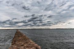 Breakwater in Baltic Sea, Latvia. Stock Image