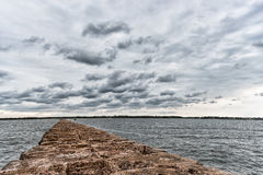 Breakwater in Baltic Sea, Latvia. Stock Images