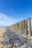 Breakwater on beach Stock Photography