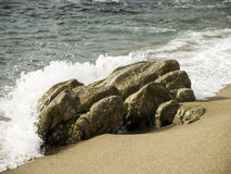 Breakwater on the beach Stock Photography
