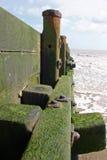 Breakwater, beach and sea Royalty Free Stock Photos