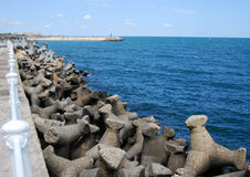 Breakwater at Black Sea Royalty Free Stock Photography