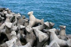 Breakwater at Black Sea Royalty Free Stock Image