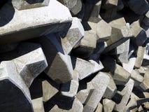 Breakwater Blocks Stock Images
