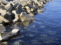 Breakwater Blocks Stock Photos