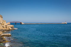 Breakwater Bridge, Valletta, Malta Royalty Free Stock Photography