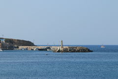 Breakwater in Hersonissos Royalty Free Stock Photos