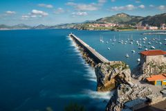Breakwater Castro Urdiales Royalty Free Stock Photo