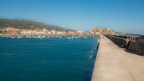 Breakwater Castro Urdiales Stock Photo