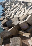 Breakwater cement blocks Royalty Free Stock Image