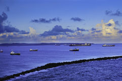 Breakwater at Colon Panama Stock Photos