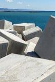 Breakwater cube Stock Image