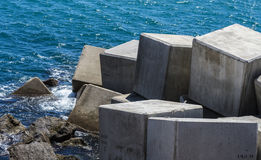 Breakwater cube Royalty Free Stock Images