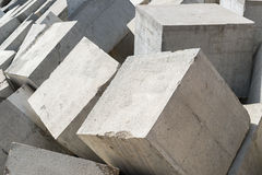Breakwater cubes Stock Images