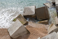 Breakwater cubes Royalty Free Stock Photography