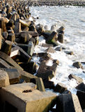 Breakwater on day light Royalty Free Stock Image