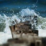 Breakwater Domburg Stock Image